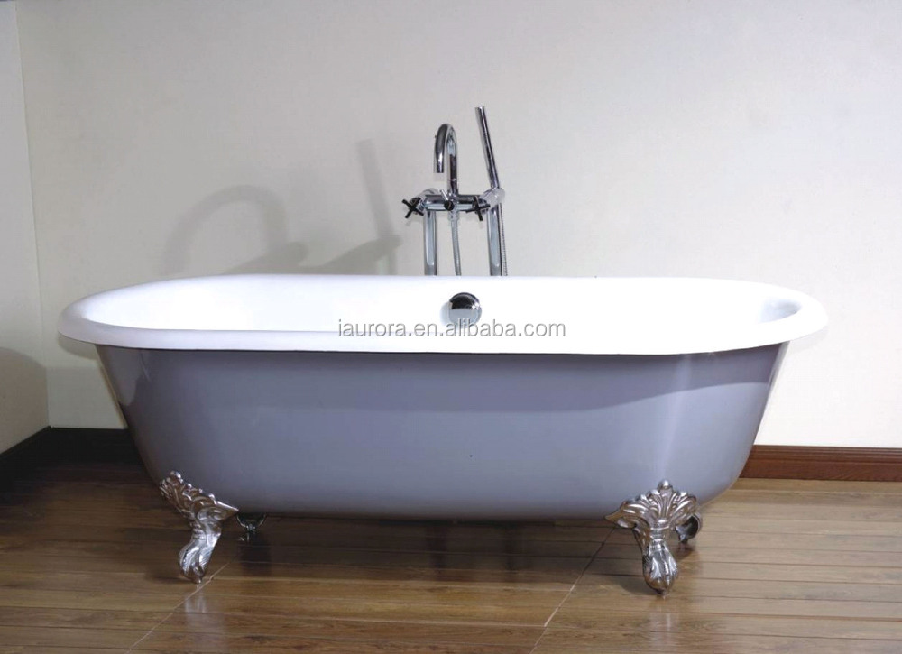 Fiberglass acrylic claw foot bath tubs buy claw foot for Claw foot soaker tub