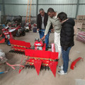 Petrol engine wheat rice reaper machine for rice wheat harvest