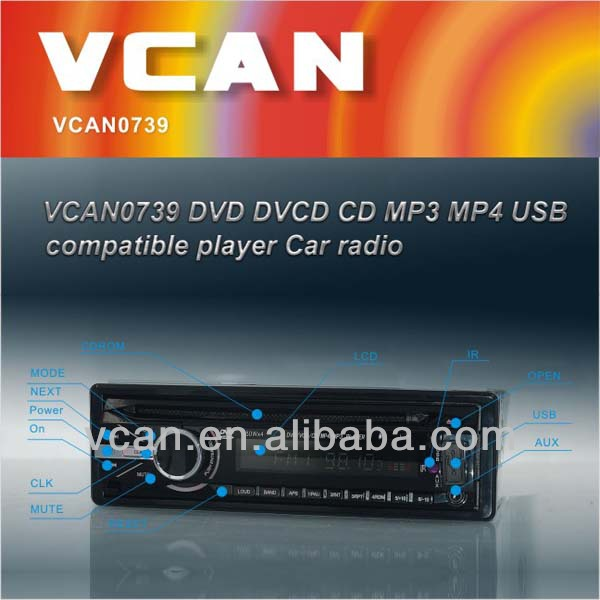 VCAN0739 DVD DVCD CD MP3 MP4 USB cheap in dash cd dvd player