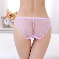 Beautiful embroidered Transparent Lace Sexy girls preteen Seamless underwear