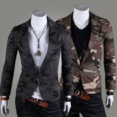 Juqian 2016 stylish design casual A grain of buttons cheap mens camouflage suit jacket