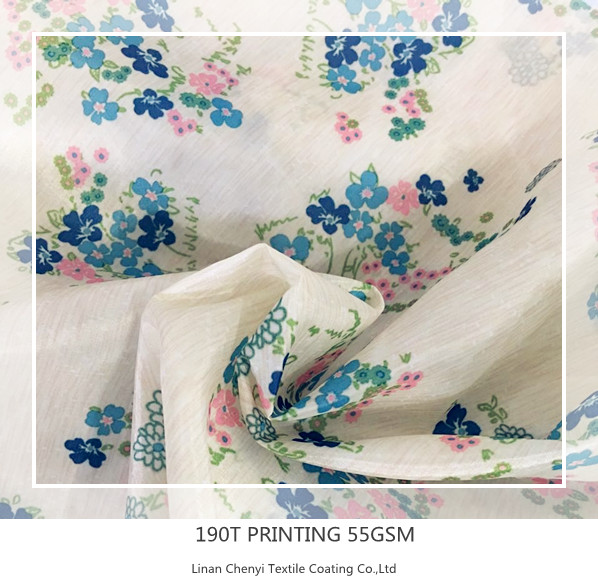 Factory price waterproof taffeta printed fabric