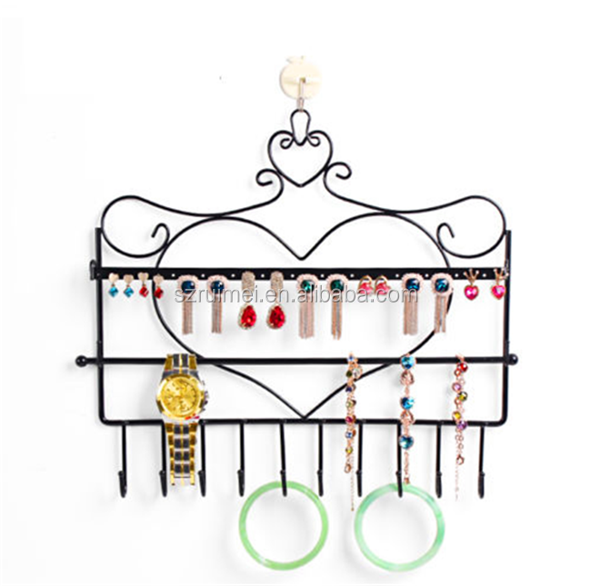 Metal finger ring holder earring display stand
