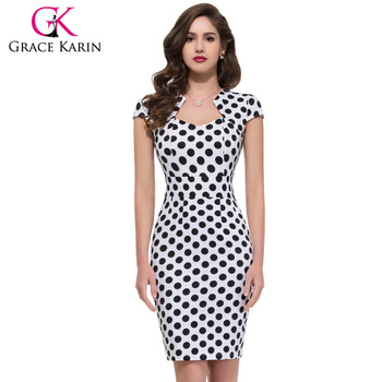 Grace Karin Retro Style Swing 1950s 1960s Vintage Retro Style Pencil Dress CL007597-1