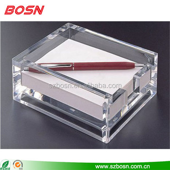 Wholesale clear acrylic memo holder lucite perspex office supplies wholesale
