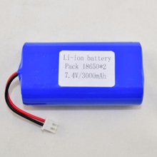 Rechargeable 3.7v2S1P 3000mAh lithium li-ion 18650 battery for Robot Vacumm Cleaner