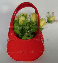 felt shopping bag with handle