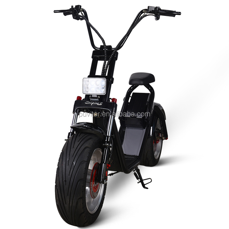 Popular CE approved electrical scooter motor citycoco scooter mobility motorcycle 1500W remove battery mobility(C04)