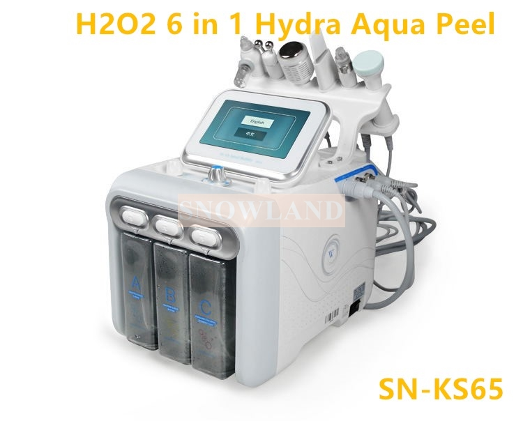 H2O2 Small Bubble Beauty Hydrogen Oxygen Hydra Skin Peel Facial Equipment