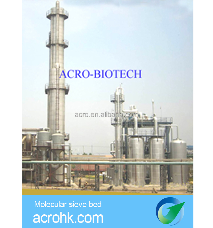 Molecular sieve bed for ethanol dehydration