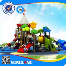 Outdoor kids plastic tunnel slide
