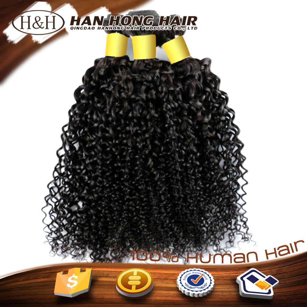 full cuticle natural high quality virgin indian remy hair kinky curly wick hair