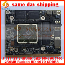 "original for Apple iMac 27"" A1312 21.5"" A1311 AMD ATI Radeon HD 4670 256 MB 109-B80357 Graphic Card GPU Late 2009 Mid 2010 Year"