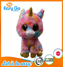 Customized OEKO colorful big eyes unicorn plush toy