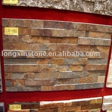 Rusty Slate Wall Panel / Slate Wall Cladding Displayed in 109th Canton Fair/ Natural Slate Cultural Stone