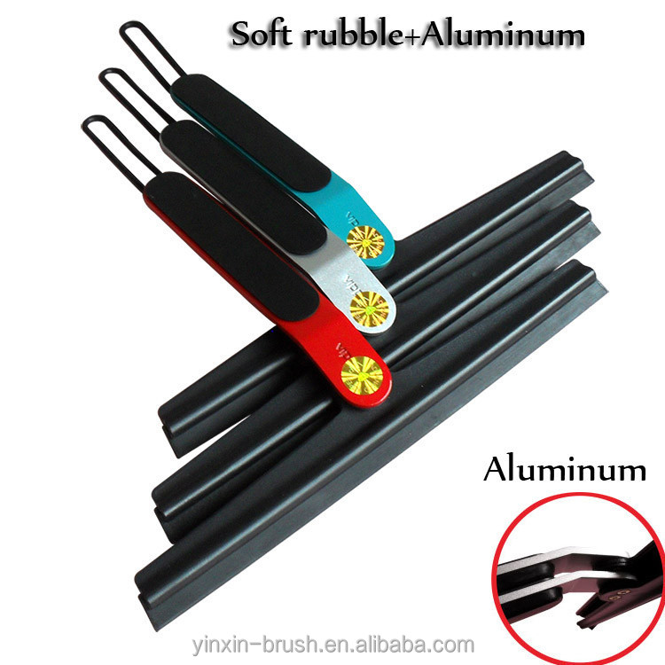 metal window squeegee car squeegee with soft rubble handle