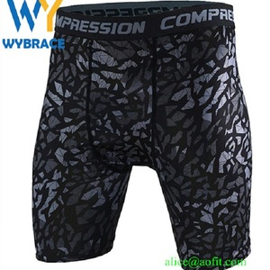 Athletic Apparel Jogging Compression Shorts/ Polyester Spandex Mens Compression Running Shorts