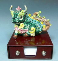 Made in Taiwan Cochin pottery with Auspicious bovine