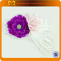 2014 Feather Baby Infant Headband Boutique Headband With Hair Flower Bow