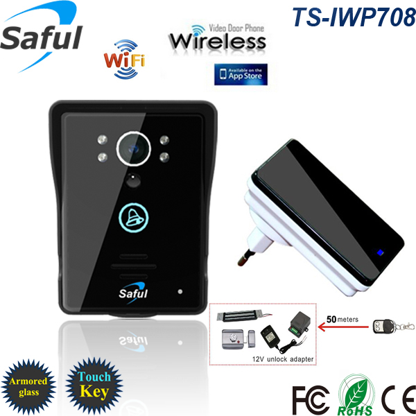 Saful TS-IWP708 WiFi doorbell with unlock controller