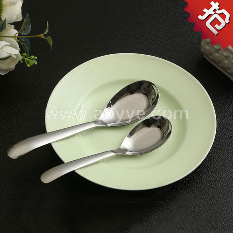 2017 Supply creative stainless steel kitchen custom flat bottom spoon