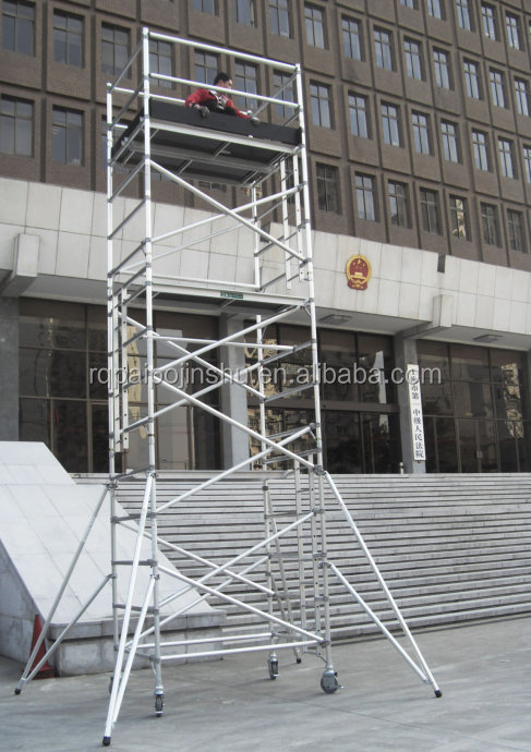 Used Aluminum Scaffolding : High quality mobile tower used aluminum scaffold for