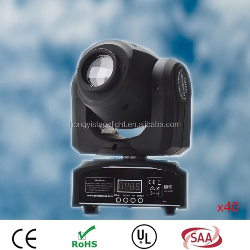 2017 Hot Factory direct sale 30w LED Moving Head Lights spot light dj set gobo dj light projector for bar event