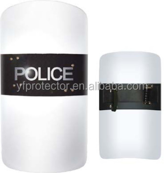 Anti Riot Protective Shield Transparent Polycarbonate Riot Shield