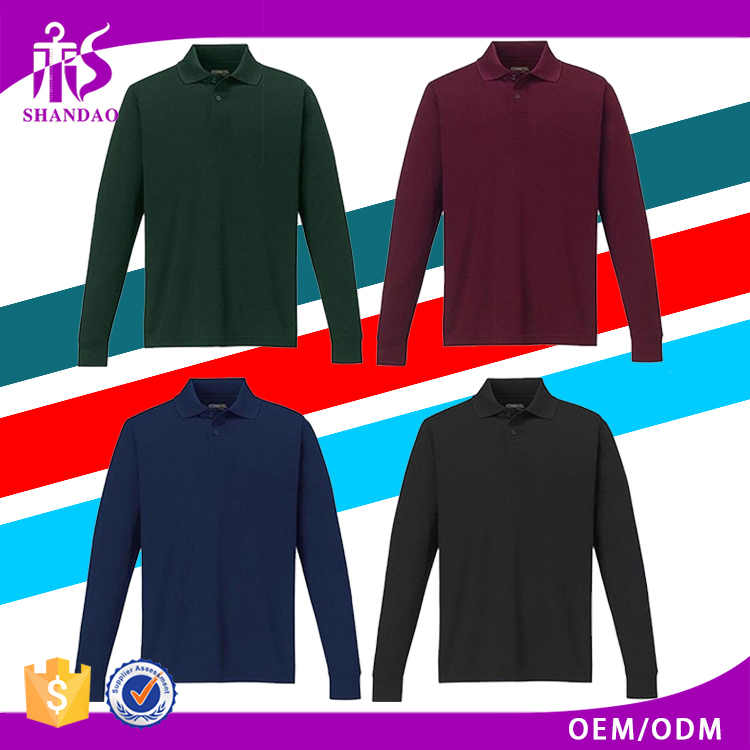 2017 Guangzhou Shandao Summer Casual 200g 100% Cotton Long Sleeve Blank Custom Logo Import Clothes From China