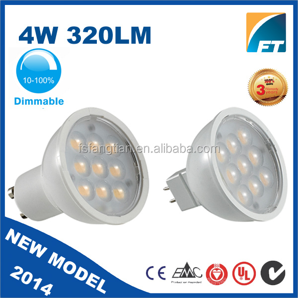 Guangdong LED PCB Hot Sell LED GU10 COB spot lighting plastic CE passed High Lumen 3 years warranty