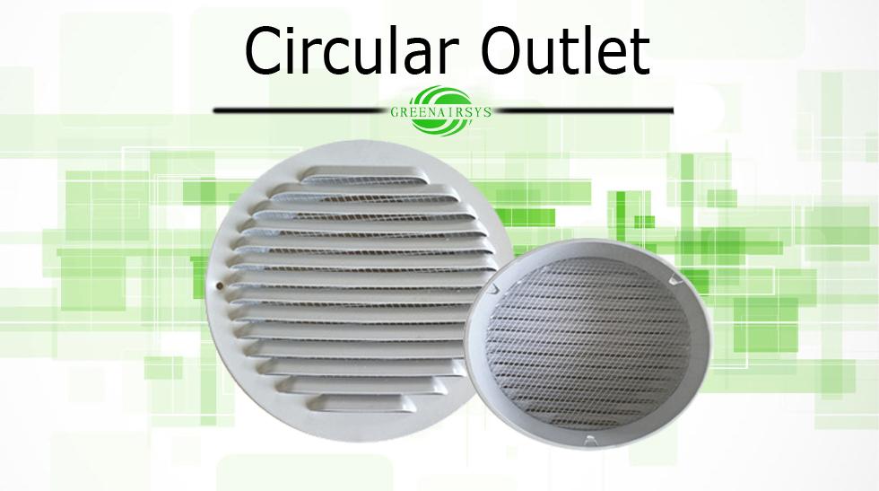 air conditioner aluminum external wall rain proof round. Black Bedroom Furniture Sets. Home Design Ideas