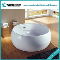 SUNZOOM UPC/cUPC certified acrylic big round bathtub, 2 person outdoor spa bathtub, big tub