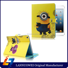 Popular Minion Case For Apple Ipad 2 3 4 Case Silions Leather New Design For Ipad Air 2 Tablet Air Case Cover Factory Wholesale