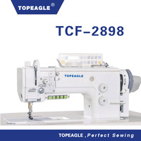 Topeagle TCF-2898 high speed double needle leather sewing machine