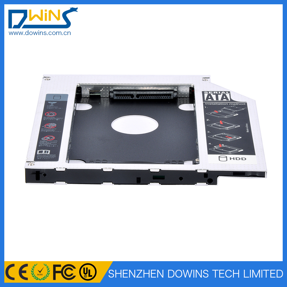 "Hot Sale Laptop Second HDD Caddy SATA 2.5""2nd/SSD Caddy 9.5 mm"