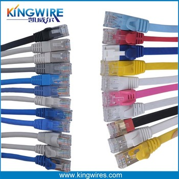 China manufacturer High Speed Crystal Port 8Pin Ripcord Patch Cord 4Pairs Flat Cat6 Ethernet Cable