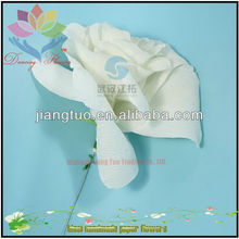 Wholesale White Organza Paper Flowers For Wedding Backdrop Decoration