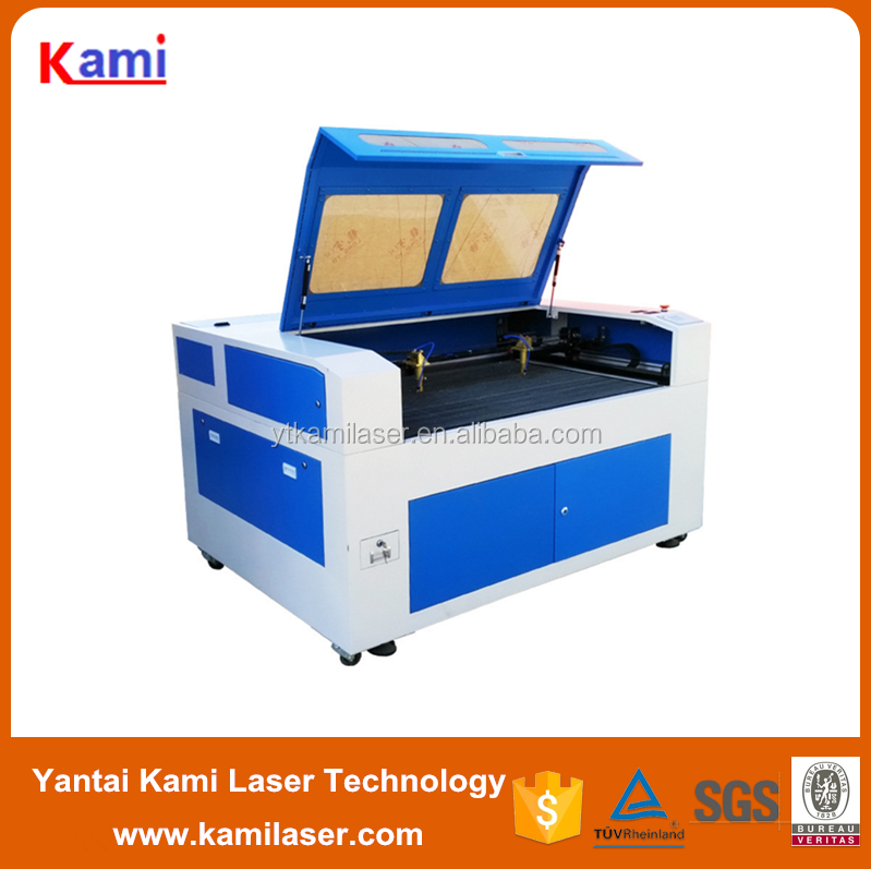 glass jewllery plastic paper mdf wood acrylic leather fabric engraving and cutting machine co2 laser KMJ-1390