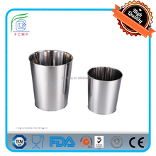 mirror coating cone-shape open top stainless steel metal waste paper bin