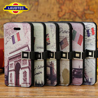 Laudtec New Design Leather Back Book Style Leather Wallet Case for IPhone 5C