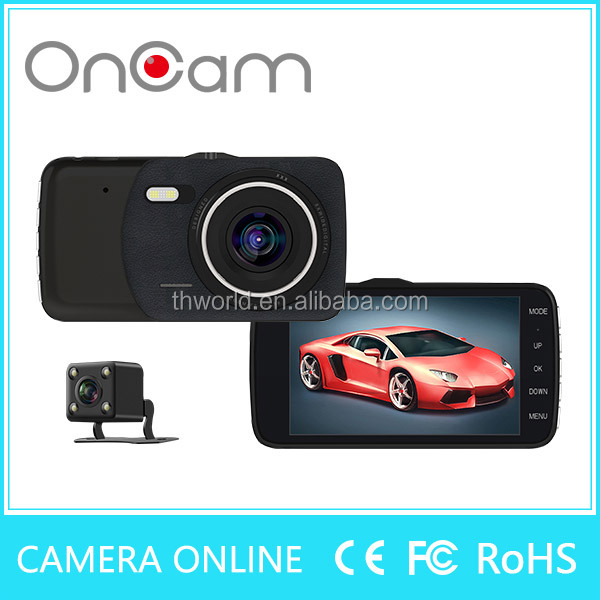 Factory directly sale T600 Dual Lens Camcorder Car DVR full hd 1080p vehicle blackbox dvr with rear view camera car dashboard
