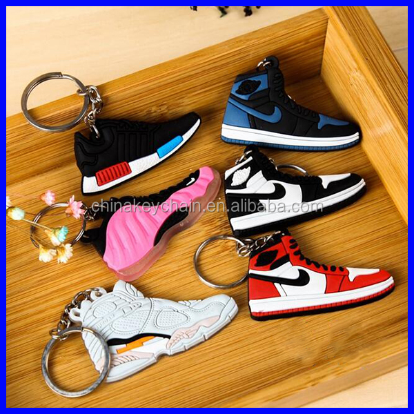 The New Custom Shoes Selling Best Soft PVC Sports Shoes Keychain