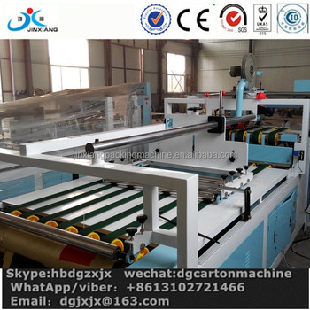 corrugated carton box folder gluing machine