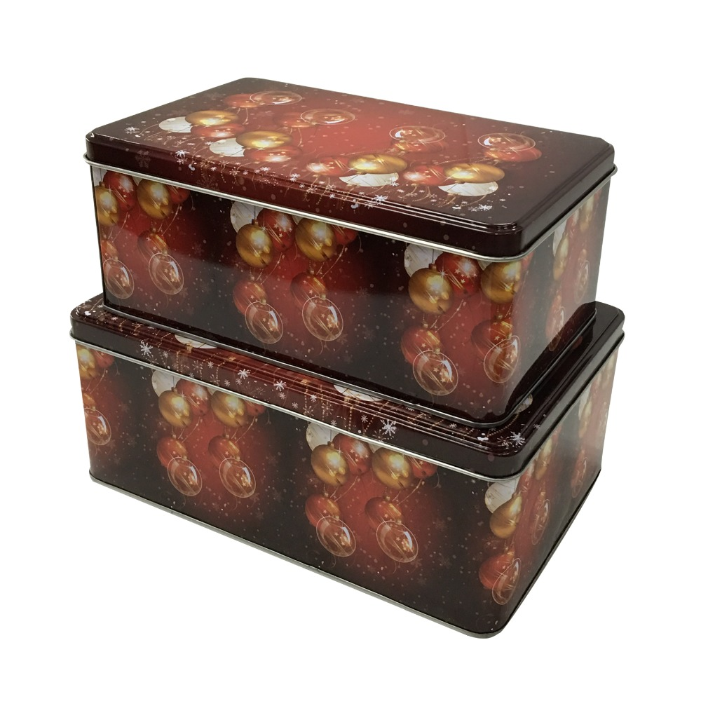 Rectangular gift candy mint tin boxes with hinge lid buy