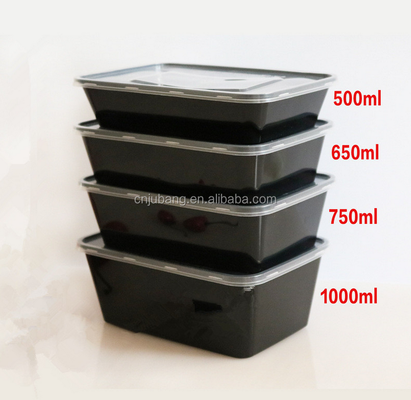 Plastic fast food takeaway box / Disposable Take Away Food Container / fast food packaging box