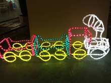 outdoor christmas led rope light train