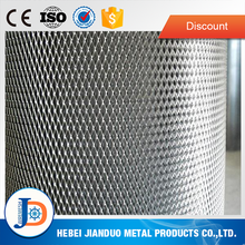 Flat diamond ss steel expanded metal mesh for building