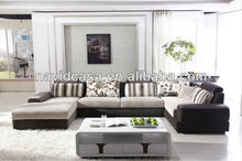 8181 Modern sectional l shaped sofa set,leather chaise lounge sofa