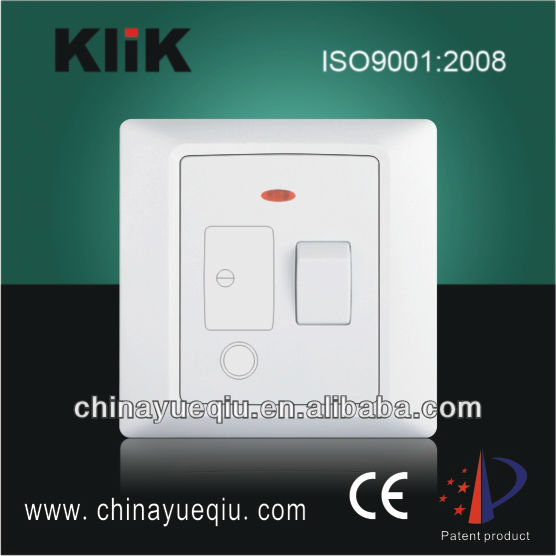 13A1 Gang Switched fused conection unit with front flex outlet