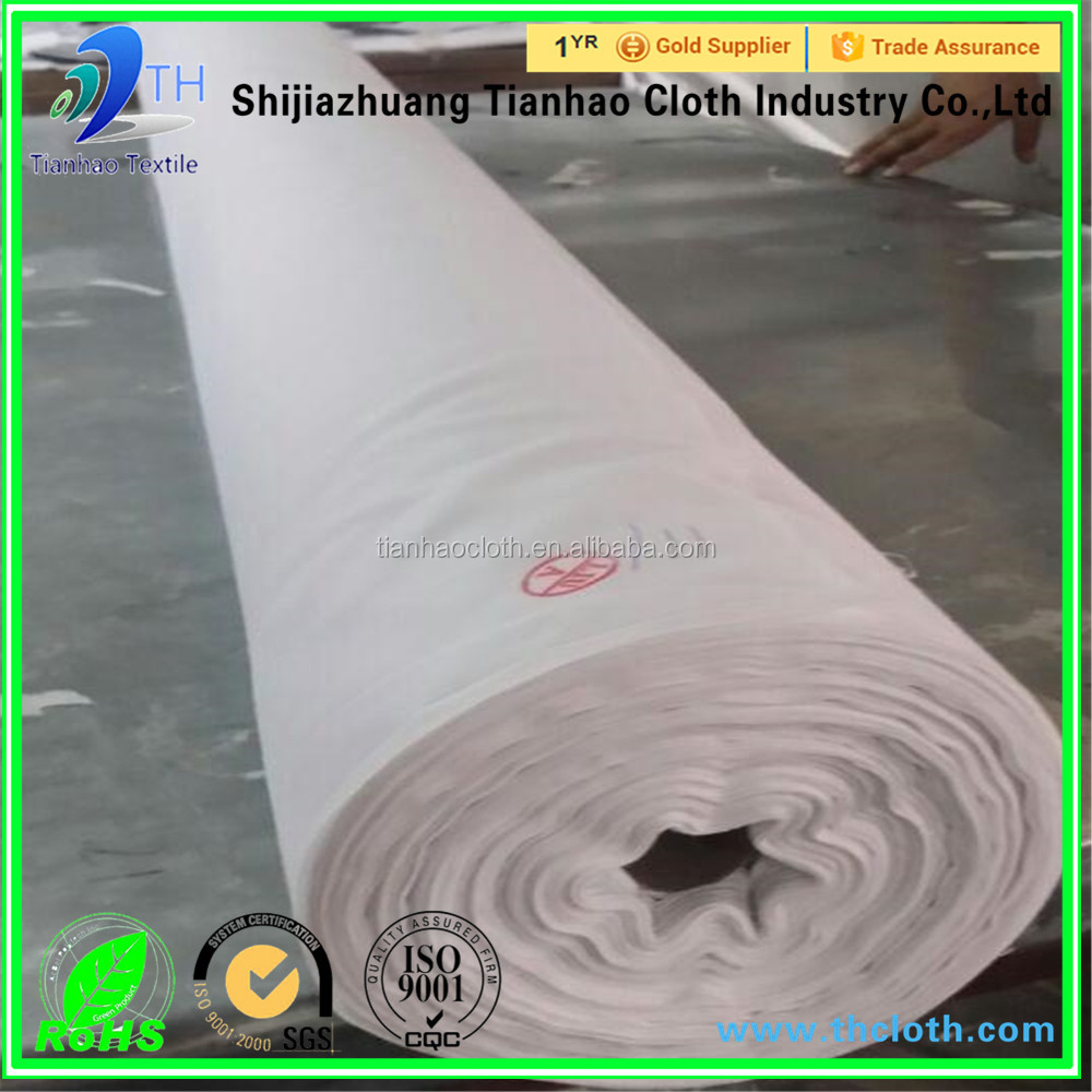 wholesale organic raw white 100% cotton muslin fabric/factory price fabric in roll/cheap fabric